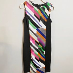 Calvin Klein Abstract Print Scuba Sheath Dress